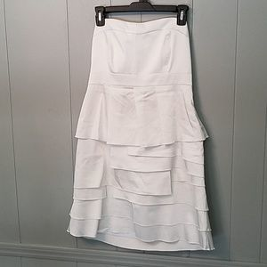 New York & Company white strapless dress